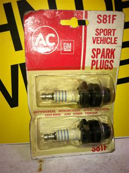 AC GM SPRARK PLUGS S81F SPORT VEHICLE SNOWMOBILE VINTAGE SLEDS
