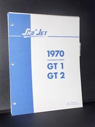 1970  SNO JET G1 & GT2 SLED PARTS BOOK HIRTH SACHS JLO ENGINES