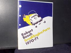 1970 bosch engines parts manual robert snowmobile vintage