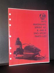 1970 rupp sno sport mag parts book snowmobile vintage