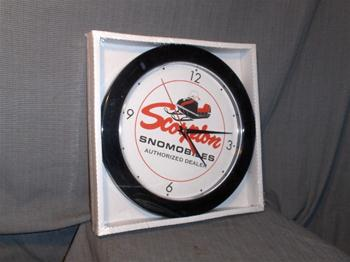 snowmobile vintage scorpion sled jlo engine clock