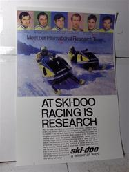1970 ski doo blizzrad 776 sled poster snowmobile vintage reproduction parts