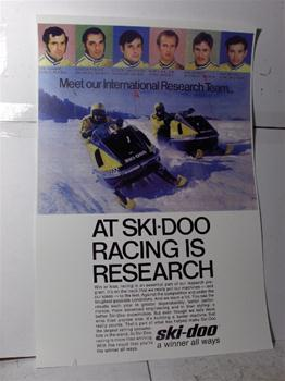 snowmobile vintage ski doo 70 blizzrad 776 research sled poster