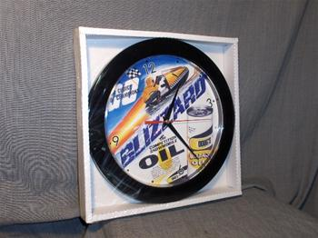 snowmobile vintage ski doo blizzard oil sled clock