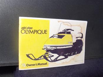 snowmobile vintage ski doo olympique sled owners manual