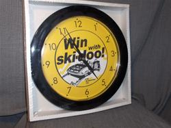 1972 ski doo blizzard 645 win with ski doo clock snowmobile vintage reproduction parts