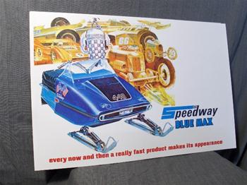 snowmobile vintage speedway kolher 650 race sled poster