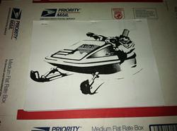 1973 BLIZZARD 797 ROTAX PARTS BOOK  SNOWMOBILE VINTAGE BOMBARDIER 797 ENGINE