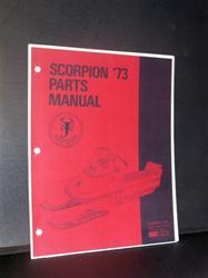 1973 scorpion sled PARTS book VINTAGE SLEDS