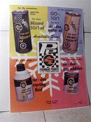 1970 ski doo performance products sled poster rotax vintage snowmobile