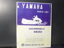 1973 YAMAHA  sr 292 sled parts manual vintage sleds