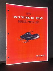 1975 RUPP nitro sled parts book VINTAGE