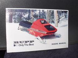 1975 rupp nitro owners manual VINTAGE SLED