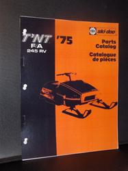 1975 SKI DOO 245 RV PARTS BOOK VINTAGE SLEDS SKIDOO