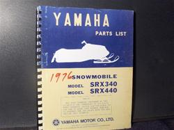 1976 yamaha srx 340 440 parts book snowmobile vintage