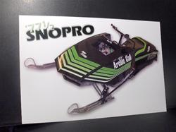 1977 arctic cat  sno pro sled poster  VINTAGE SLEDS