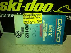 DAYCO MAX DRIVE BELT 1112 VINTAGE SNOWMOBILE DAYCO DRIVE BELT 1112