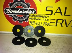 BOMBARDIER RUBBER WASHERS 570-1337-00 VINTAGE SNOWMOBILE SKI DOO RUBBER WASHERS 570-1337-00
