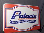 VINTAGE POLARIS PROUD METAL DEALER SIGN VINTAGE SNOWMOBILE POLARIS THE PROUD PERFORMERS METAL DEALER SIGN