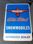 VINTAGE SKI-BIRD DEALER METAL SIGN VINTAGE SNOWMOBILE BOATEL SKI-BIRD METAL DEALER SIGN