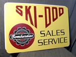 VINTAGE SKI DOO DEALER METAL SIGN 1965 VINTAGE SNOWMOBILE 1965 SKI DOO DEALER METAL SIGN ROTAX ENGINE SLEDS