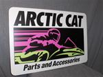 VINTAGE ARCTIC CAT PARTS & ACCESSORIES DEALER METAL SIGN VINTAGE SNOWMOBILE ARCTIC CAT PARTS DEALER METAL SIGN
