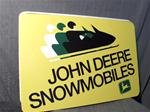 VINTAGE JOHN DEERE DEALER METAL SIGN VINTAGE SNOWMOBILE JOHN DEERE DEALER SIGN