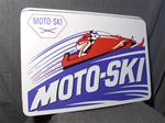 VINTAGE MOTO-SKI DEALER METAL SIGN VINTAGE SNOWMOBILE BOUCHARD MOTO-SKI DEALER METAL SIGN LA POCATIERE