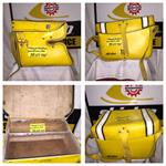VINTAGE SKI DOO OLYMPIQUE BOMBARDIER REAR BAG  SKI DOO CHALET BOMBARDIER BAG DG607 ROTAX ENGINE SNOWMOBILE
