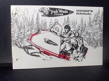 snowmobile vintage trade winds tiger sled owners manual