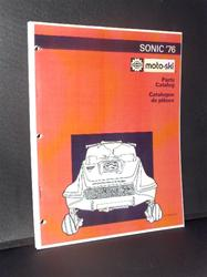 1976 moto-ski sonic parts manual rotax engine snowmobile vintage