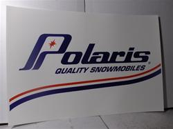 polaris quality snowmobiles sleds dealer poster sign snowmobile vintage
