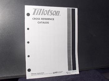 snowmobile vintage tillotson carb cross reference manual
