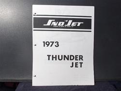 1973 thunder jet part manual yamaha engine snowmobile vintage