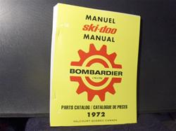 1972  ski doo shop parts manual SNOWMOBILE VINTAGE TNT BLIZZARD ALPINE ROTAX