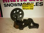 ARCTIC CAT JAG 340 GEARS CHAIN  VINTAGE SNOWMOBILE ARCTIC CAT JAG CHAIN GEARS