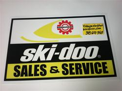 VINTAGE SKI DOO DEALER SIGN  FLUORESCENT 24 X 36 LENS 1973