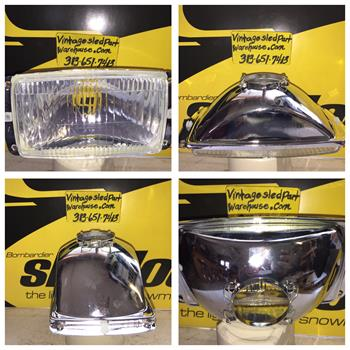 SKI DOO SLED HEADLIGHT 410-5058-00 KIMPEX SNOWMOBILE VINTAGE