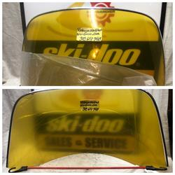 VINTAGE SKI DOO OLYMPIQUE 414 0484  WINDSHIELD ROTAX 12/3 335 399 VINTAGE BOMBARDIER TNT 292 340 292S ROTAX ENGINES VALCOURT QC