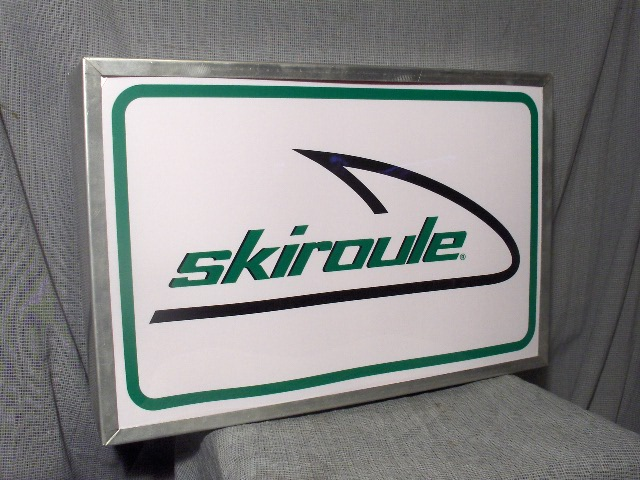 skiroule dealer lighted sign  rtx 800 lazer snowmobile vintage