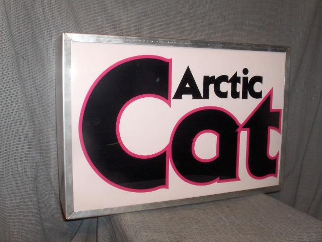 arctic cat lighted sign pink cat logo
