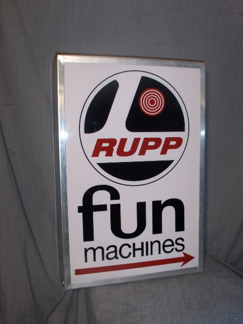 rupp dealer lighted sign vintage snowmobile