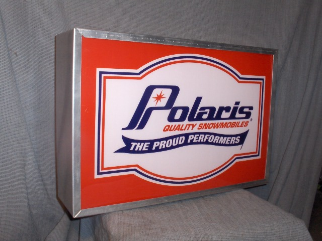 polaris DEALER proud lighted sign