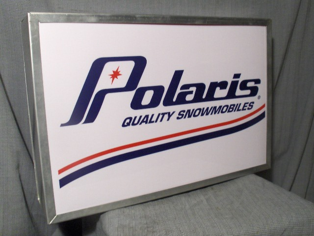 polaris quality snowmobiles lighted sign