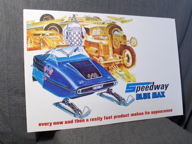speedway 650 race sled poster kohler snowmobile vintage
