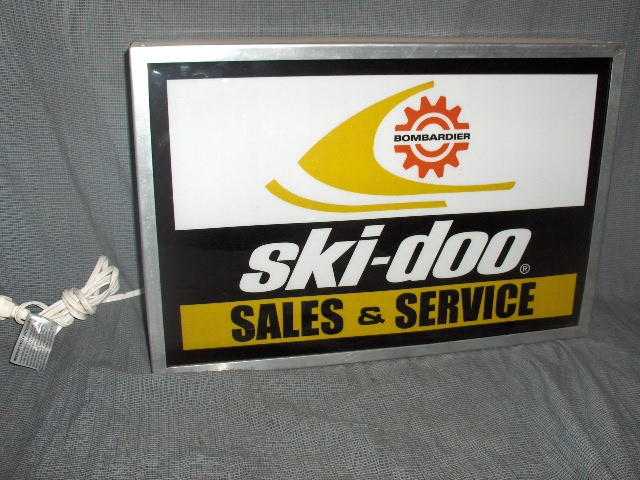 1973 ski doo sales & service dealer lighted sign rotax vintage sled