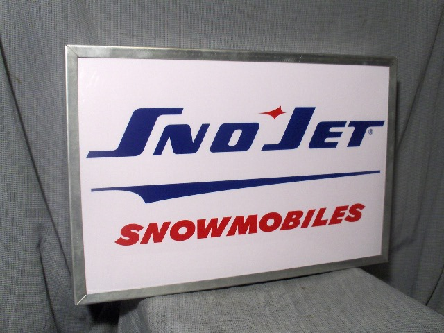 sno jet dealer logo lighted sign sst thunder jet vintage