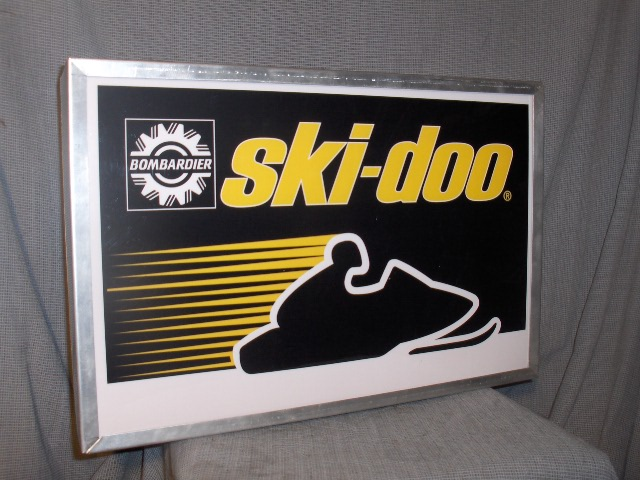 1978 ski doo rv dealer lighted sign rotax tnt vintage sleds