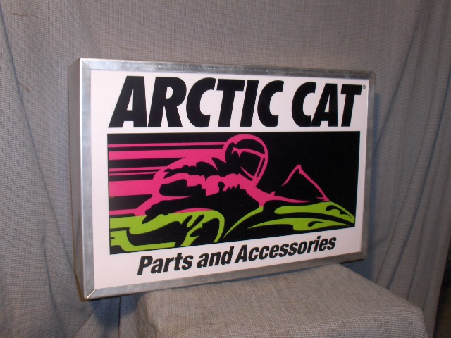 arctic cat parts & acc lighted sign