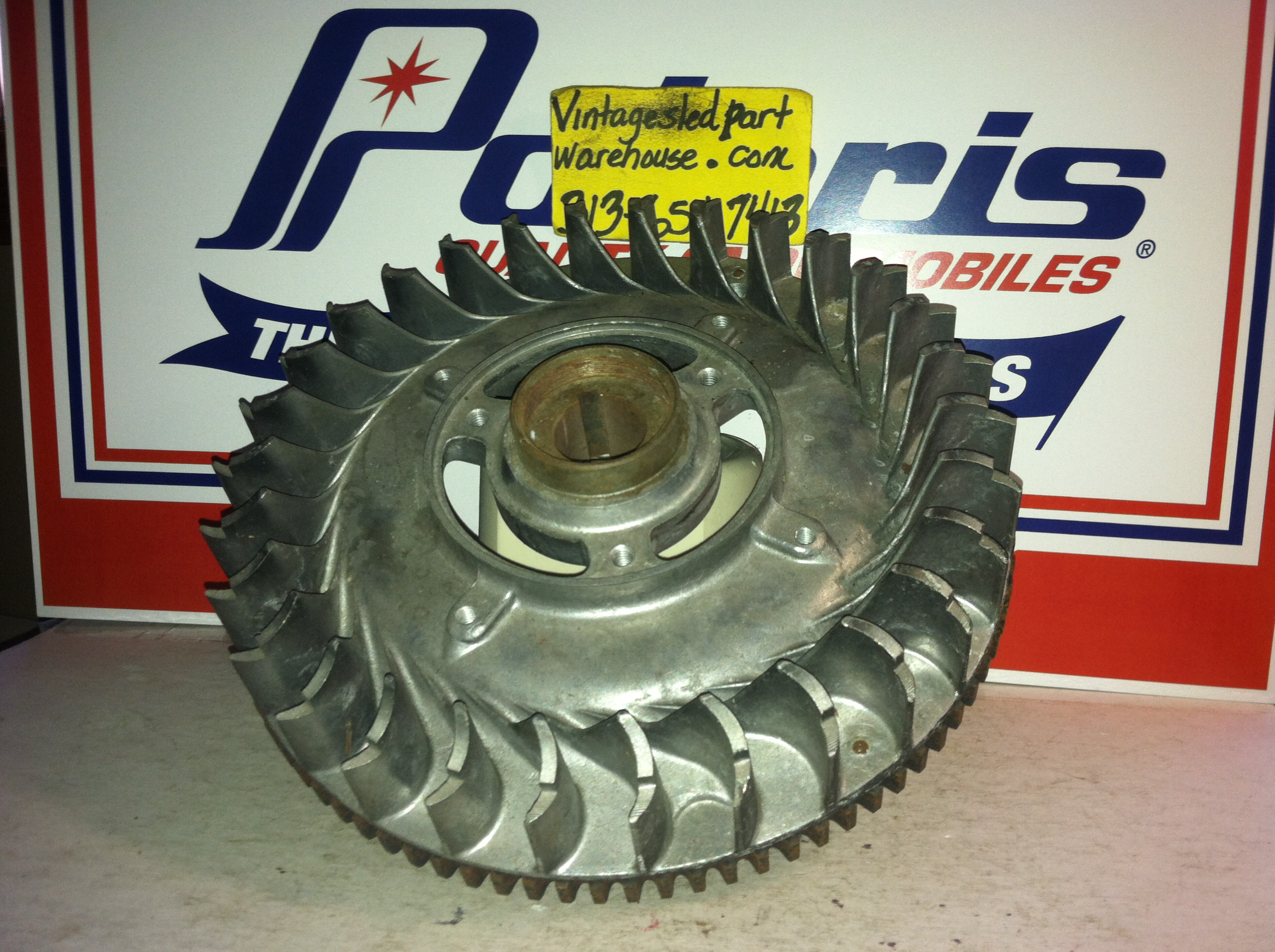 VINTAGE POLARIS JLO ROCKWELL FLYWHEEL 454.14.010.00 VINTAGE SNOWMOBILE JLO ROCKWELL  ENGINE FLYWHEEL 454.14.010.00